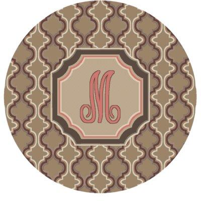 Lanikai Monogrammed Pink Area Rug Letter: M