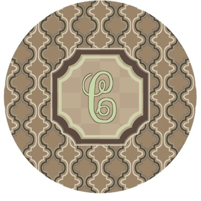 Lanikai Monogrammed Green/Brown Area Rug Letter: C