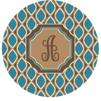 Hansley Monogrammed Blue Area Rug Letter: A