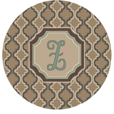 Lanikai Monogrammed Turquoise/Brown Area Rug Letter: Z