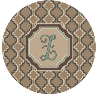 Lanikai Monogrammed Turquoise/Brown Area Rug Letter: Z