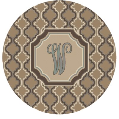 Lanikai Monogrammed Blue/Brown Area Rug Letter: W