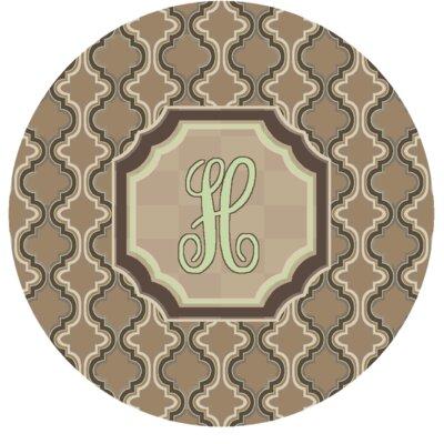 Lanikai Monogrammed Green/Brown Area Rug Letter: H