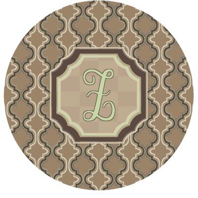 Lanikai Monogrammed Green/Brown Area Rug Letter: Z