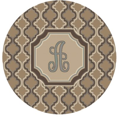 Lanikai Monogrammed Blue/Brown Area Rug Letter: A