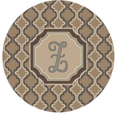 Lanikai Monogrammed Blue/Brown Area Rug Letter: Z