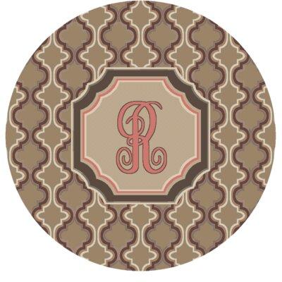 Lanikai Monogrammed Pink Area Rug Letter: R