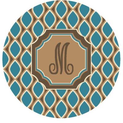 Hansley Monogrammed Blue Area Rug Letter: M