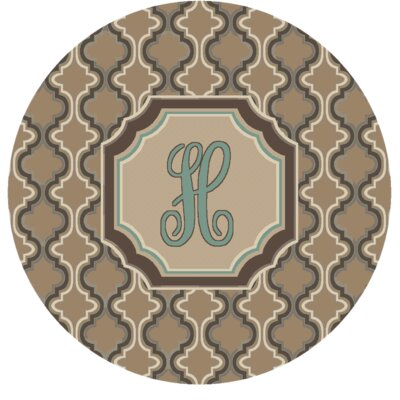 Lanikai Monogrammed Turquoise/Brown Area Rug Letter: H
