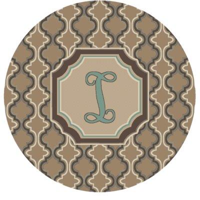Lanikai Monogrammed Turquoise/Brown Area Rug Letter: I