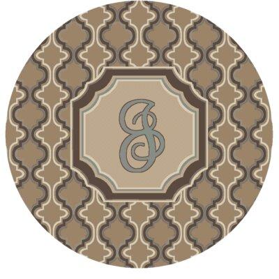 Lanikai Monogrammed Blue/Brown Area Rug Letter: J