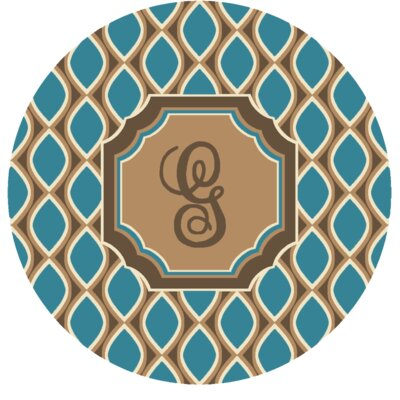 Hansley Monogrammed Blue Area Rug Letter: G