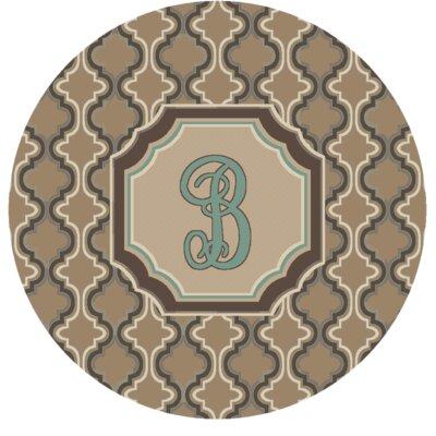 Lanikai Monogrammed Turquoise/Brown Area Rug Letter: B