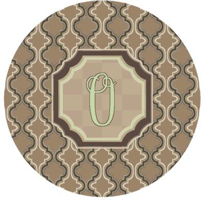 Lanikai Monogrammed Green/Brown Area Rug Letter: O