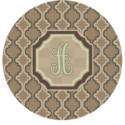 Lanikai Monogrammed Green/Brown Area Rug Letter: A