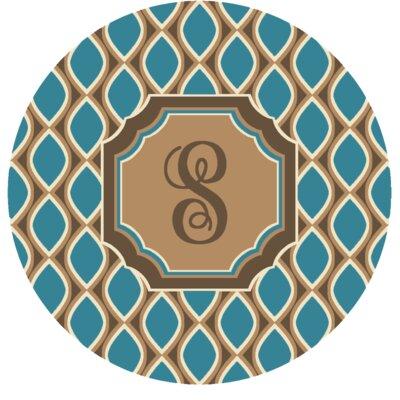 Hansley Monogrammed Blue Area Rug Letter: S