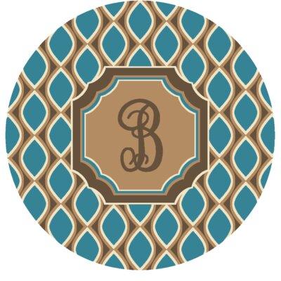 Hansley Monogrammed Blue Area Rug Letter: B
