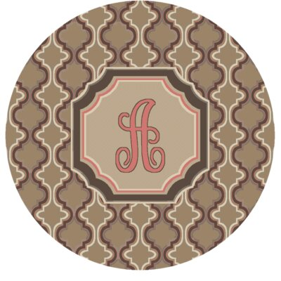 Lanikai Monogrammed Pink Area Rug Letter: A