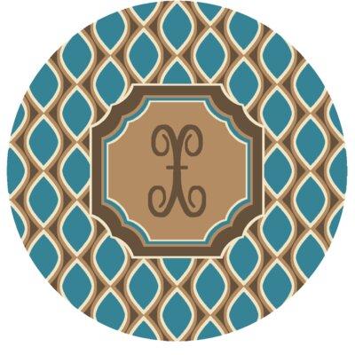 Hansley Monogrammed Blue Area Rug Letter: X