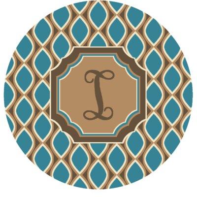 Hansley Monogrammed Blue Area Rug Letter: I