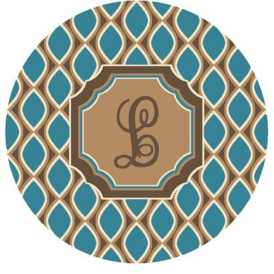 Hansley Monogrammed Blue Area Rug Letter: L