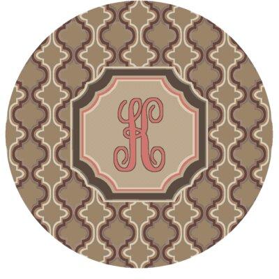 Lanikai Monogrammed Pink Area Rug Letter: K