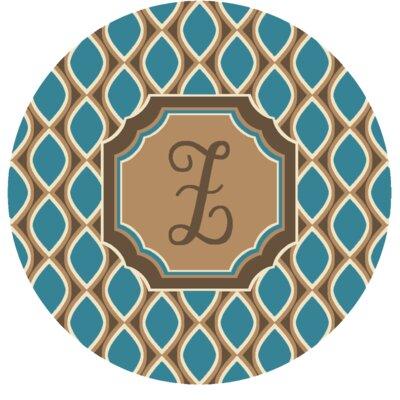 Hansley Monogrammed Blue Area Rug Letter: Z