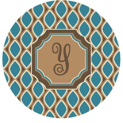 Hansley Monogrammed Blue Area Rug Letter: Y
