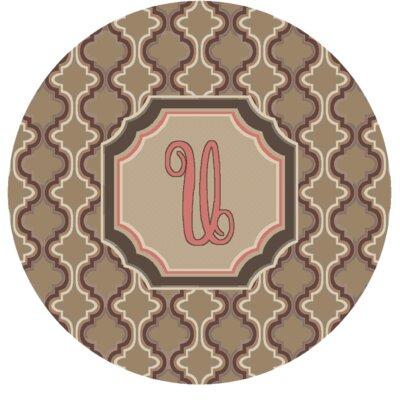 Lanikai Monogrammed Pink Area Rug Letter: U