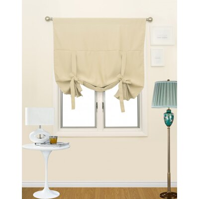 Blackout Tie-Up Shade Color: Beige