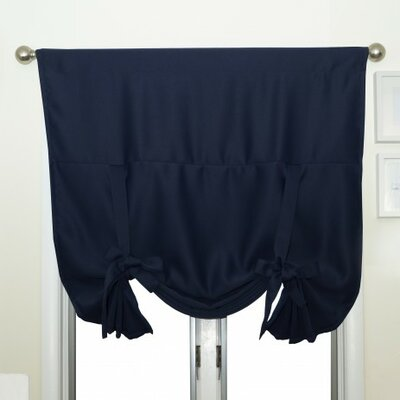 Blackout Tie-Up Shade Color: Navy