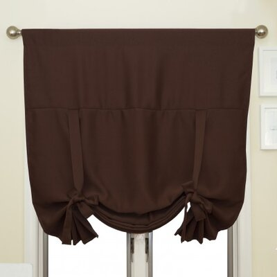 Blackout Tie-Up Shade Color: Chocolate