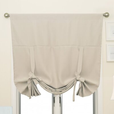 Blackout Tie-Up Shade Color: Ivory