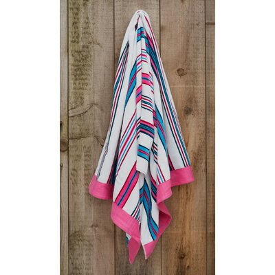 Fuchsia Stripe Beach Towel