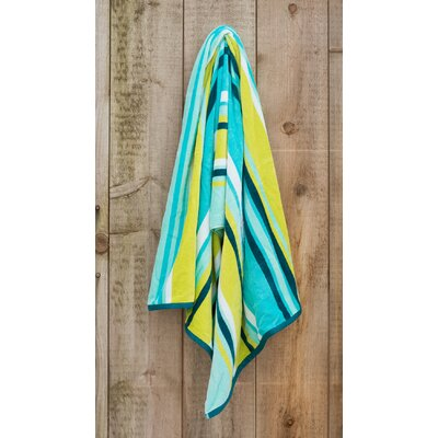 Sea Lime Stripe Beach Towel