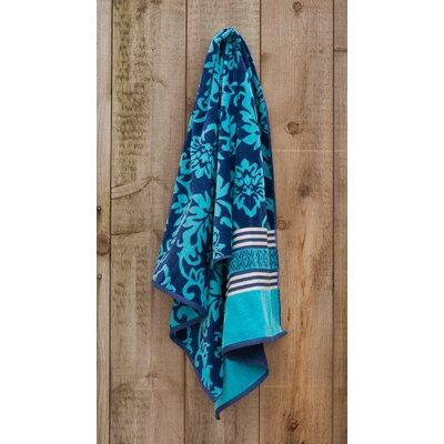 Jacquared Weaved Scroll Beach Towel