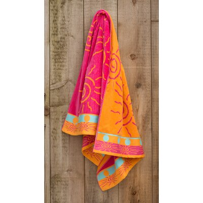 Sun Fun Jacquard Weaved Beach Towel