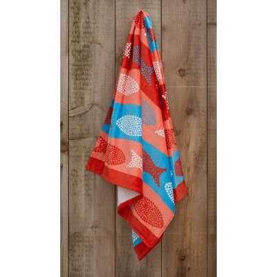 Polka Dot Fish Printed Beach Towel