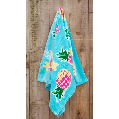 Pineapple Printed Beach Towel
