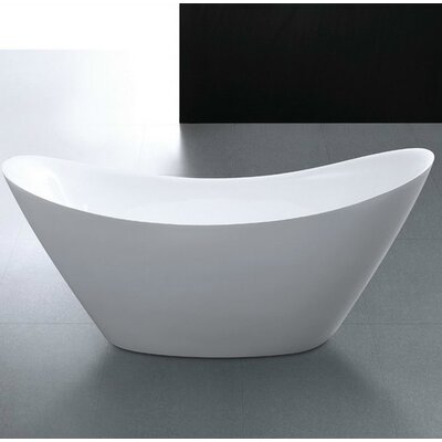 Squadra 66.9 x 29.5 Freestanding Soaking Bathtub