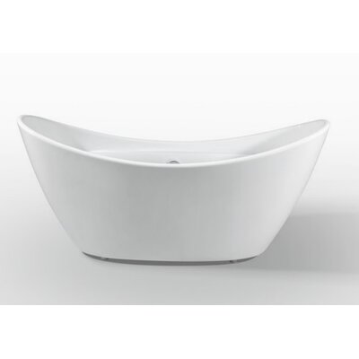 Squadra 67 x 32.5 Freestanding Soaking Bathtub