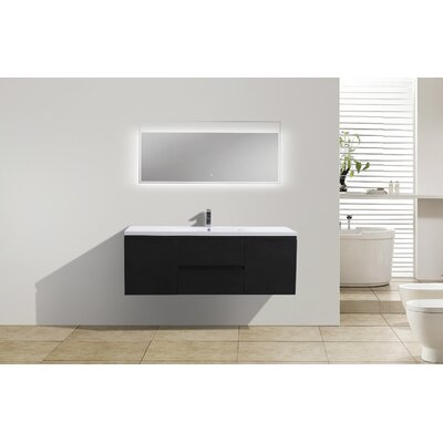 MOB 59 Single Bathroom Vanity Set Base Finish: Black