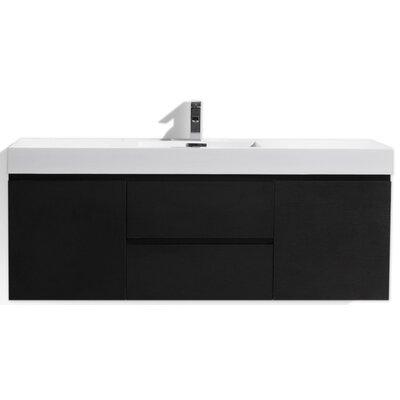 MOF 60 Single Bathroom Vanity Set Base Finish: Black