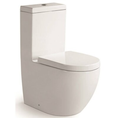 Aqua Dual Flush Round One-Piece Toilet