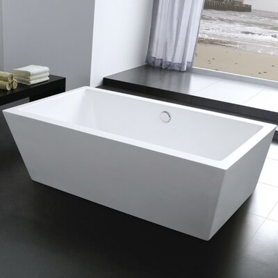 Squadra 67 x 31.5 Freestanding Soaking Bathtub