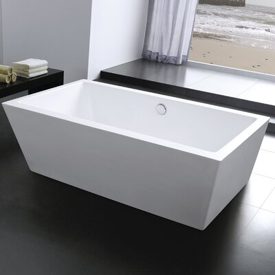 Squadra 71 x 29.5 Freestanding Soaking Bathtub