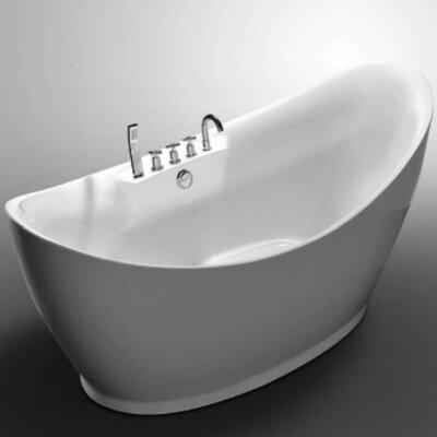 Squadra 67 x 31.5 Freestanding Soaking Bathtub