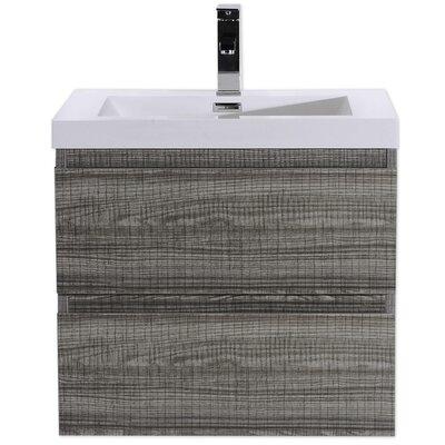 MOB 24 Single Bathroom Vanity Set Base Finish: High Gloss Ash Gray