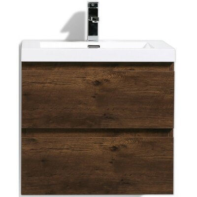 MOB 24 Single Bathroom Vanity Set Base Finish: Rosewood