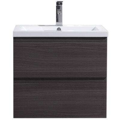 MOB 24 Single Bathroom Vanity Set Base Finish: Dark Gray Oak